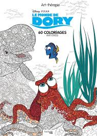 Disney Finding Dory Adult Colouring Book Nemo Fish Sea Ocean French Animals Film