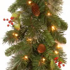 Dunhill Artificial Christmas Trees Uk by Wintry Pine 9ft Pre Lit Christmas Garland Charlies Direct