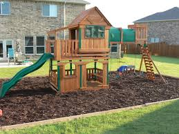 Step By Step How To Border A Playground Area | Backyard Ideas ... Wonderful Big Backyard Playsets Ideas The Wooden Houses Best 35 Kids Home Playground Allstateloghescom Natural Backyard Playground Ideas Design And Kids Archives Caprice Your Place For Home 25 Unique Diy On Pinterest Yard Best Youtube Fniture Discovery Oakmont Cedar With Turning Into A Cool Projects Will