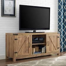 Walker Edison Furniture Company Rustic Barnwood Storage Entertainment Center HD58BDSDBW