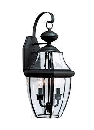 8039 12 two light outdoor wall lantern black