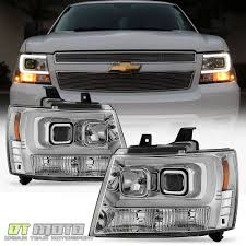 2007-2014 Chevy Suburban Tahoe Avalanche [LED Tube DRL] Projector ... 881998 Chevy Truck 8piece Black Halo Headlights Set Wxenon Bulbs Billet Front End Dress Up Kit With 7 Single Round 1973 Lumen Ck Pickup 1964 Projector Led Dna Motoring For 0306 Silveradoavalanche 4pc Headlight 5 Inch 1958 Wiring Diagrams Schematics 03 04 05 06 Silverado 1500 Tail Lights Parking Light 9499 Suburban Blazer Headlamps Light Blue Trucks Elegant Chevrolet Colorado Crew Cab Photo 9902 1 Piece Grille Cversion Dash In 2017 Are Awesome The Drive 072014 Tahoe Avalanche Tron Style Neon Tube