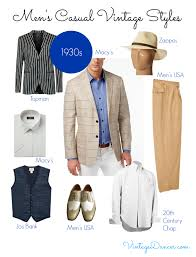 Casual Vintage Mens Clothing 1920s 1930s 1940s 1950s