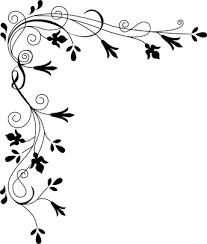 fall border clipart black and white
