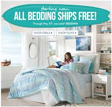 free shipping on all bedding at pottery barn teen valid through