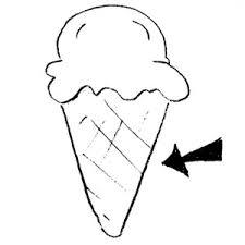 Cone clipart black and white