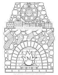Christmas Coloring Book Fireplace By Thaneeya McArdle
