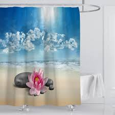 US 1016 51 OFFHot 180180cm Bathroom Waterproof 3D Water Effect Cube Design Shower Curtain Water Resistance Bathing EVA Clear Thicker Curtainsin