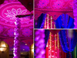 Blue Purple Red And Fuchsia Wedding Color Palette For Indian