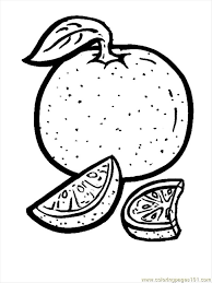 Orange Coloring Page Free Oranges Pages