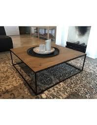 couchtisch metall holz tisch schwarz braun maße 100x100 cm