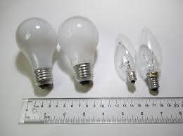 light fixtures and light bulb sizes