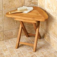 Teak Corner Bath Stool From Sportys Preferred Living