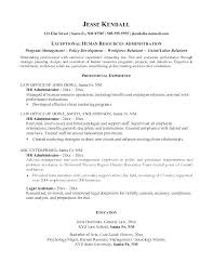 Human Resource Resume Samples Sample Hr Coordinator Example
