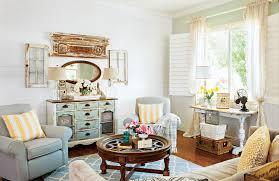 Cottage Livingroom Colorful Vintage Cottage Style Cottage Style Decorating