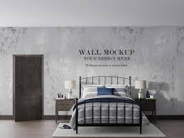 vintage schlafzimmer tapete modell design premium psd datei