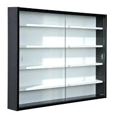 Wall Mount Display Case Cabinet With Glass Door Tower Vitrine