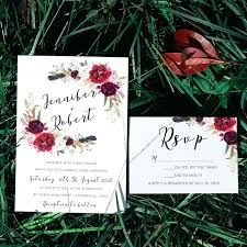 Elegant Rustic Fall Wedding Invitations For Burgundy Floral Hand Lettered Invites 43 Diy