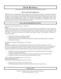 Daycare Center Director Of Child Care Services With Teacher Objectives For Resumes Example And Education As Bachelor Science