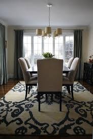 Rug On Carpet Dining Room Fresh Interior Inside Rugs Under Table Alluring Ideas Home 17