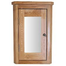 Tall Corner Bathroom Linen Cabinet by Solid Oak Wall Mounted Tall Corner 60cm Tall Bathroom Mirror