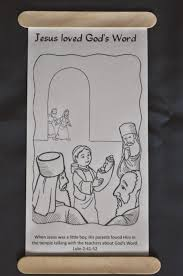 Lesson 41 The Boy Jesus In Temple Scroll Coloring Page