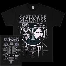 Smashing Pumpkins Merchandise T Shirts by Marilyn Manson Masters Of Madness Event T Shirt Shop The