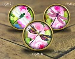 Pink Vintage Dresser Knobs by Dragonfly Knobs Etsy