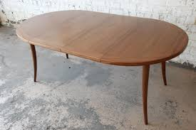 Harvey Probber Mid Century Modern Mahogany Saber Leg Extension Dining Table