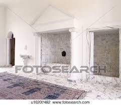 groß teppich auf boden klassisches marmor