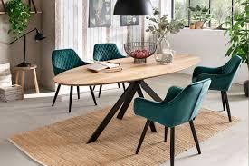 tisch mit ovaler tischplatte massiv direkt
