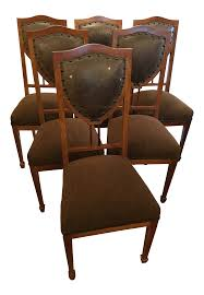 Art Nouveau Side Chairs In Leather And Mahogany | Chairish Set Of 8 Vintage Midcentury Art Nouveau Style Boho Chic Italian Stunning Of Six Inlaid Mahogany High Back Chairs 2 Pair In Antiques Atlas Lhcy Solid Wood Ding Chair Armchair Lounge Nordic Style A Oak Set With Table Seven Chairs And A Side Ding Suite Extension Table France Side In Leather Chairish Gauthierpoinsignon French By Gauthier Louis Majorelle Caned An Edouard Diot Art Nouveau Walnut And Brass Ding Table Four 1930s American Classical Shieldback 4