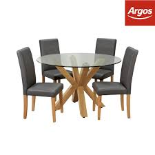 Argos Home Alden Round Glass Table & 4 Chairs - Charcoal   EBay Kitsch Round Glass Table Set Of 4 Chairs Dfs Ireland Mcombo Mcombo Ding Side 4ding Clear Ingatorp And Chairs White Ikea Cally Modern Table With La Sierra Fniture Grindleburg 60 Woodstock Carisbrooke Barker Stonehouse Dayton 48 Upholstered Shop Hlpf5cap 5 Pc Small Kitchen Setding Hanover Traditions 5piece In Tan A Jofran Simplicity Chair Slat Back Pier 1 W Aptdeco Rovicon Lulworth Pedestal