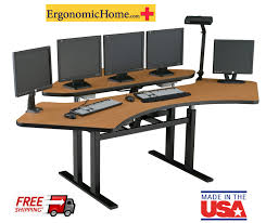 Ergonomically Correct Living Room Furniture by Corner Computer Desk Sit Stand Desk Control Room Console