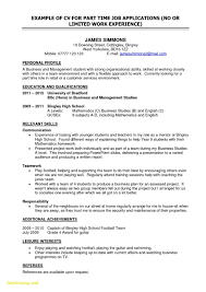 First Time Job Resume Examples Inspirational Sample For College Student Looking Part Large Size