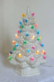 Ceramic Tree Bulbs Vintage With Lights Inches By Large Twist Christmas