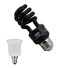 13w blacklight cfl bulb with candelabra adapter home
