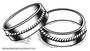 Vintage wedding ring clipart clipartfest