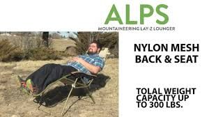 alps mountaineering lay z lounger youtube