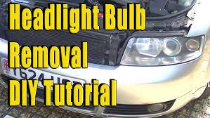 audi a4 b6 headlight removal bulb removal diy tutorial