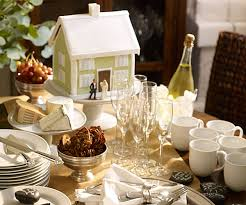 Housewarming Party Themes With House Decor Centerpiece Table And Sage Green Homes Champagne Glasses Plates