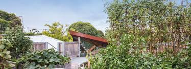 100 The Leaf House Angular Corten Roof Folds Down Over Leaf House Extension In Melbourne