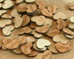 100 Tiny Love Hearts 05 Cute Little Wooden Rustic