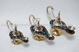Antique Brass Aladdin Lamps by Beads Decorated Brass Aladdin Genie Oil Lamp Buy Antique Brass