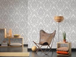 a s création tapete landhaus metallics silber weiß 329841