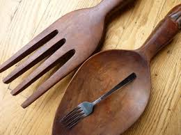large wooden fork and spoon wall hanging fork and spoon wall decor