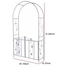 100 Arch D Woodside Ecorative Metal Garden With Gate Outdoor Climbing