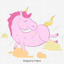 Unicornio Rosa De Dibujos Animados Unicornio De Dibujos Animados