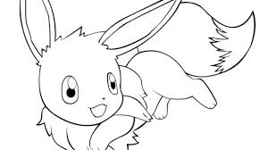 Eevee Coloring Page Free Printable Pages With 1 Cidenzimori Com
