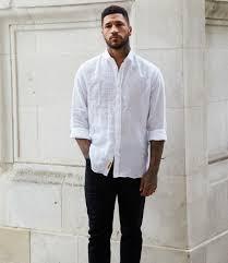 White Shirt Black Jeans Mens Street Style